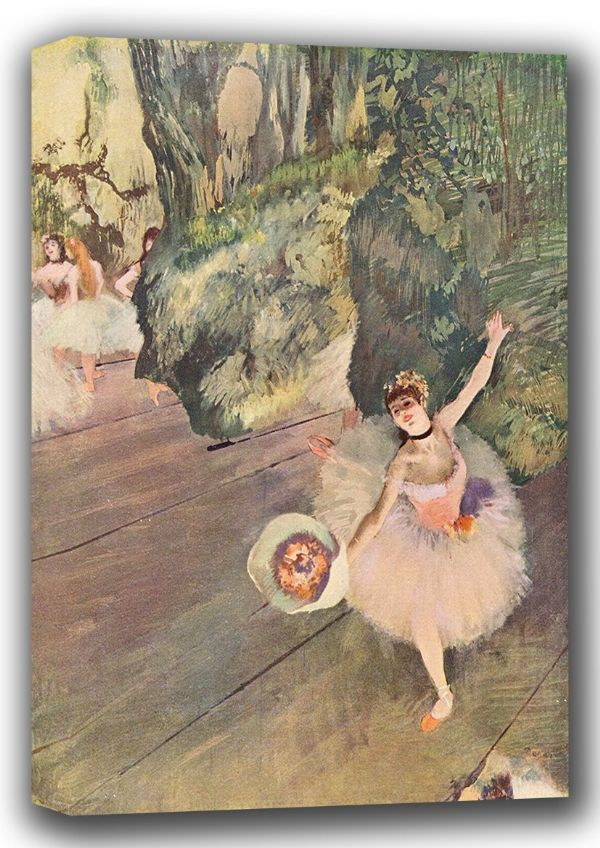 Degas, Edgar: A Dancer with a Bouquet of Flowers. Fine Art Canvas. Sizes: A4/A3/A2/A1 (001375)